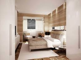 bedroom wood paneled bedroom features modern platform bed with