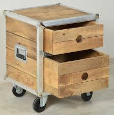 rollcontainer echtholz nachttisch holz rustikal tesoley com