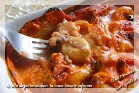 cuisiner de la seiche gourmande sans gluten gratin de petites seiches à la sauce tomate