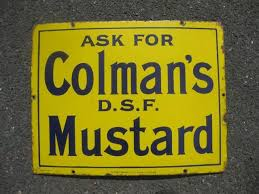 colman s mustard shop stuff enamel sign for colmans mustard for sale 12441