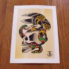 eagle and skull traditional flash pictures to pin on