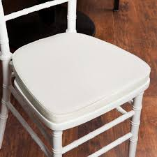 lancaster table and seating table seating ivory chiavari chair cushion 1 3 4 thick