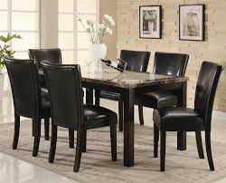 coaster dining room table coaster carter rectangular leg dining table with faux marble top