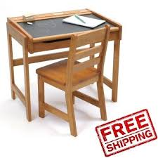 Kid Desk And Chair Desk Set Chair Wood Table Chalkboard Home Study Storage