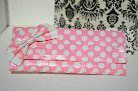 pink polka dot duct tape wallet other pinterest duct tape