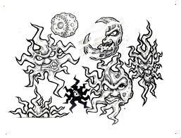 sun and moon design img36 sun moon flash tatto sets