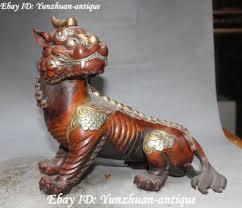 pixiu statue purple bronze guardian pixiu pi xiu brave troops unicorn