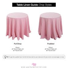 What Size Tablecloth For 60 Inch Round Table Let U0027s Talk Linens The Ultimate Guide To Table Linen Sizes Party