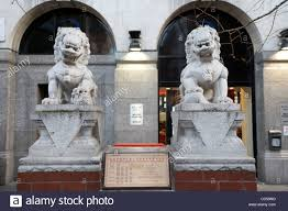 marble foo dogs guardian lions shishi foo dogs sculptures chinatown london