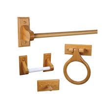 Design House Dalton 4 Piece Bathroom Accessory Kit in Honey Oak