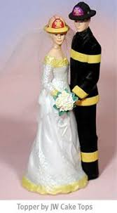 fireman wedding cake toppers fighter wedding cake topper firefighter wedding cake