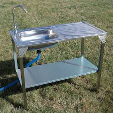 Outdoor Kitchens For Camping by Kitchen Sinks Bar Outdoor Sink Station Square Brushed Nickel