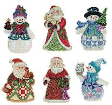 Jim Shore Christmas Carol Ornaments by On Set Of 6 Jim Shore Counted Cross Stitch And Beaded Christmas