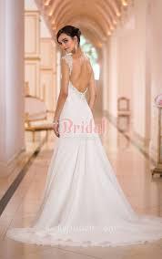 Chiffon Wedding Dresses Open Back Cap Sleeve A Line Beach Chiffon Wedding Dress Sweep