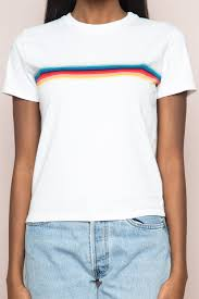 Flag Red White Blue Horizontal Stripes Jamie Rainbow Top