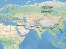Map Of China And India by The Attack Of China End Times Truth