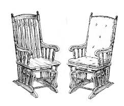interesting rocking chair drawing a for design
