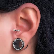 cartilage cuff earrings cz accented tribal shield cartilage piercing cuff earrings helix