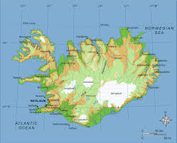 Physical Maps Printable Iceland Physical Map Iceland Topography Map Iceland