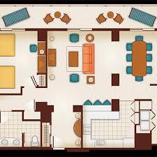 floor plan of a 1 bedroom villa