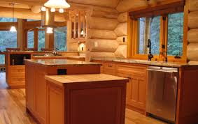 douglas fir kitchen cabinets log home kitchen features vertical grain douglas fir cabinets
