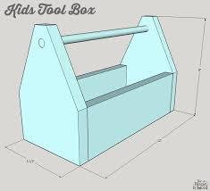 Wood Tool Box Plans Free by Diy Kids Tool Box