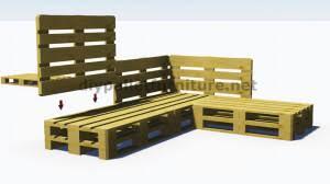 canapé de jardin en palette et plans 3d de la façon de faire un canapé pour le