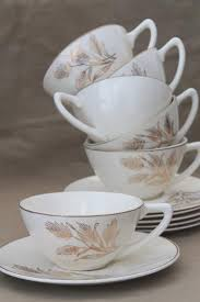 golden china pattern 1950s vintage gold wheat china knowles golden wheat pattern cups