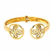 monogram bracelet gold louis vuitton monogram gold bangle bracelet ebay