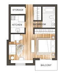 downtown studio apartment floor plan renderedfloorplan