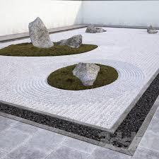 3d models other architectural elements japanese zen rock garden