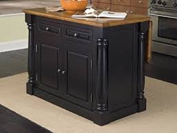 kitchen island oak amazon com home styles 5008 94 monarch kitchen island black and