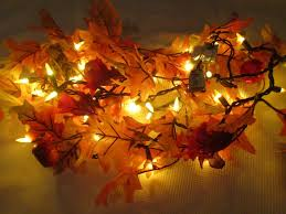 thanksgiving lights fall thanksgiving maple leaf lighted garland string lights