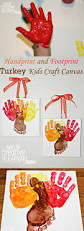 handprint and footprint turkey kids craft canvas simplytodaylife com jpg