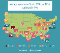 Average Square Footage Of A 4 Bedroom House The Growth Of The Average Us Home Size In The Past 100 Years