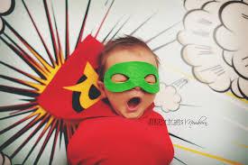 Infant Robin Halloween Costume Robin Newborn Superhero Costume Baby Boy Photography