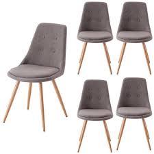 chaises design salle manger chaises design salle a manger gris lot de 4 achat vente chaise
