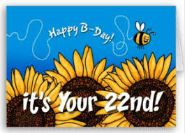 birthday card for 22 year old send sunshine to someone special