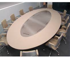 Circle Meeting Table Contemporary Conference Table Wooden Metal Leather Park