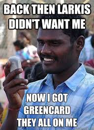 Green Card Meme - indian race troll memes quickmeme