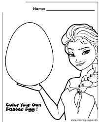 frozen color your own easter egg design colouring page coloring