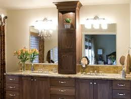 Bathroom Vanity Storage Tower Mesmerizing Product Details Walnut Master Bathroom Vanity With For