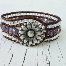 beaded leather cuff bracelet images Best western leather cuff bracelet products on wanelo jpg
