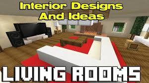 minecraft living room designs youtube