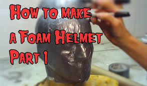 how to make a foam helmet tutorial part 1 the evil ted channel