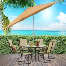 Patio Umbrella Commercial Grade by Bcp 9 U0027 Aluminum Patio Market Umbrella Tilt W Crank Outdoor