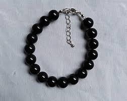 black pearl bracelet images Black pearl bracelet etsy jpg