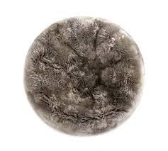 fibre by auskin sheepskin bean bag chair vole gray 3 u2032 filled