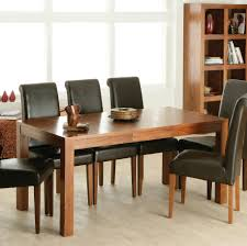 dining room dark brown leather dining chairs combined with big