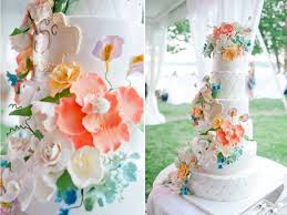 wedding cake with pastel flowers denas cakes pastel cake flowers